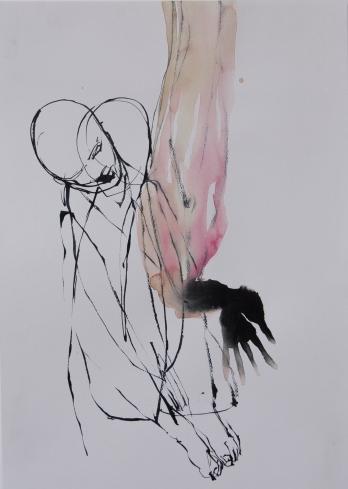sigrid tanghe _ watercolour Dorée 220gr. 30 x 42 cm