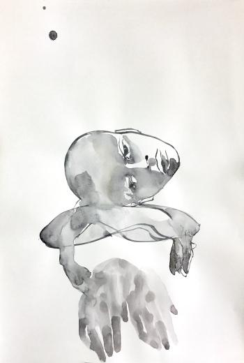 sigrid tanghe _ watercolour Dorée 220gr. 50 x 70 cm